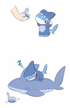 Adorable Shark Puppy Comics Is The Best Thing You See Today - Best Comic Books Cute Animal Drawings, Kawaii Drawings, Cute Drawings, Drawings Of Sharks, Pet Shark, Baby Animals, Cute Animals, Art Kawaii, Cute Comics