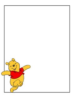 Journal Card - Pooh skipping - photo by pixiesprite Scrapbook Journal, Journal Cards, Disney Frames, Autograph Book Disney, Pooh Bear, Tigger, Disney Cards, Winnie The Pooh Friends, Project Life Cards