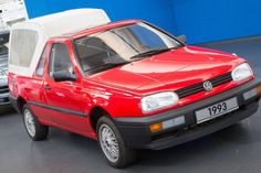 Volkswagen pick-up prototype, 1993. The Caddy, based on the Mk 1 Golf, has been the only Golf-based pick-up but this prototype which resides in the Volkswagen Museum shows consideration was given to making one based on the Mk 3 Golf