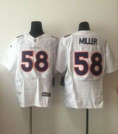 NFL Jersey's Mens Denver Broncos Von Miller Nike Orange Game Jersey