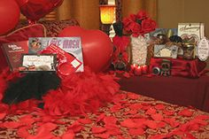 how to set up a romantic hotel room for him