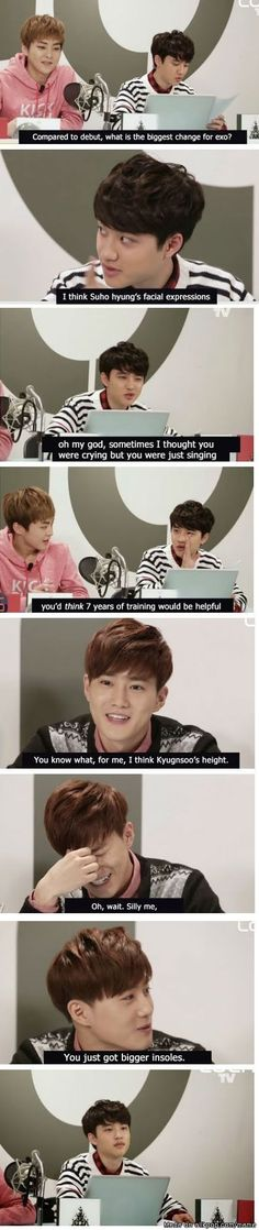Hahahahahahaa OMG SUHO!!! You're the leader!!! You can't be that mean to our Kyungsoo xD