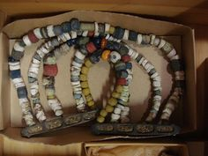Beads from Gotland. At Fornsalen/Gotlands Museum, Visby. http://www.gotlandsmuseum.se/