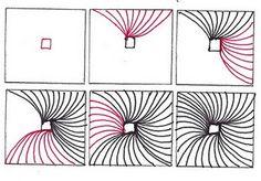 Zentangle pattern Vortex
