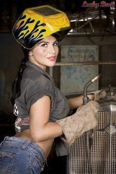 Sexy welding girls sorry