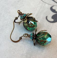 Sale - Aqua Teal Vibrant Bohemian Earrings. $14.50, via Etsy.