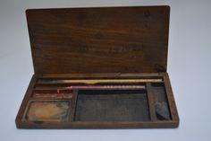 Suzuri bako calligraphy writing box, slim and compact size, wood, vintage Japanese by StyledinJapan on Etsy