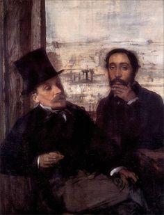 Edgar Degas · Autoritratto con Valernes · 1864 · Musée d'Orsay · Paris