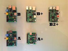 Les différentes models de Raspberry PI