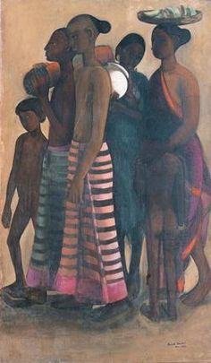 South Indian Villagers by Amrita Sher-Gil
