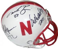 Eric Crouch, Johnny Rodgers, & Mike Rozier Signed Mini Helmet #SportsMemorabilia #NebraskaCornhuskers