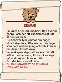 Varför kramar är så bra Hug Quotes, Love Quotes, Swedish Quotes, Kids Barn, Swedish Language, Pomes, Proverbs Quotes, Affirmation Quotes, Statements