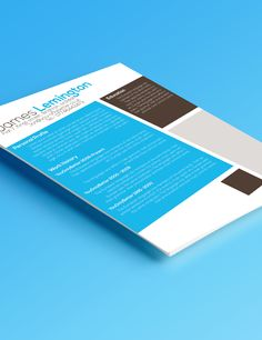 James Lemington Cv Design, Products, Design Resume, Gadget, Resume Design