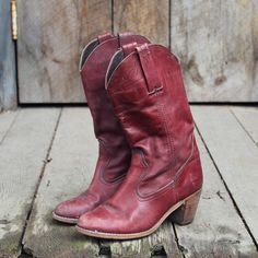 Vintage Autumn Dex Boots, Rugged Vintage Leather Boots from Spool 72. | Spool No.72