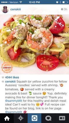 Sammybefit's Shrimp and Zucchini Noodles