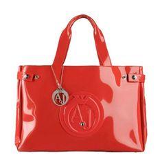 3daac4a756a9 Sac Armani Jeans Vernice Moyen   Rouge Mode Italienne, Beauté Des Femmes, Sacs  À