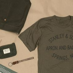 Stanley & Sons T-shirt, Waxed Zip pouch, Key Fob, Bandana, Tote