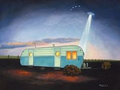 Vintage-Travel-Trailer-Mobile-Home-Roswell-New-Mexico-NM-UFO-Aliens-LG-ART-Print