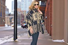 Easy poncho look...