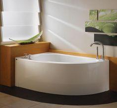 Bathroom, : Neptune Wind Corner Soaker Tub 59 With Circle Quarter Design For Small Bathroom Inspiration Design Corner Bathtub Shower, Corner Soaking Tub, Small Bathroom With Tub, Bathtubs For Small Bathrooms, Best Bathtubs, Corner Tub, Small Bathtub, Bathroom Design Small, Shower Tub
