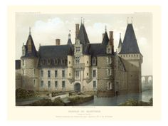Petite French Chateaux II Giclee Print by Victor Petit at Art.com