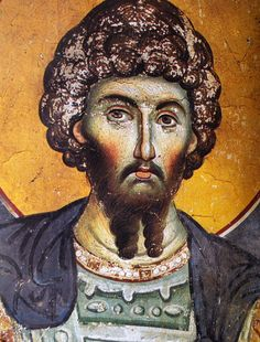 Double beard with a neat stache. Also, did Byzantine nobility cover their face in make-up? Byzantine Art, Byzantine Icons, Russian Icons, Africa Map, Art Icon, Orthodox Icons, Romanesque, Christian Art, Drawings