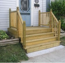 how to build a small deck for a mobile home - Google Search