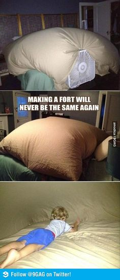 Ingenious Fort! Have to try that (: #DIY