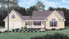Traditional Elevation of Plan 45286