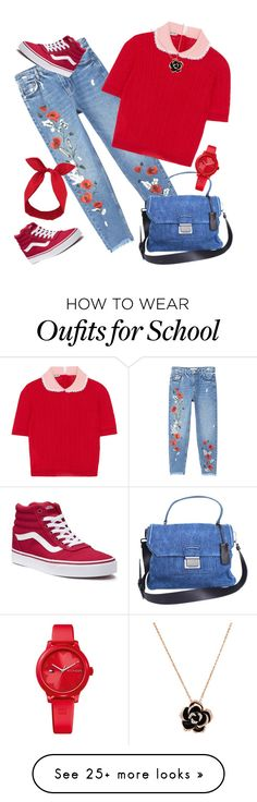 """""""School Days"""" by sweetyincago on Polyvore featuring MANGO, Miu Miu, Vans, Lulu in the Sky and Tommy Hilfiger"""