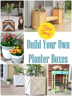 Decorating with flowers outdoors doesn't have to be expensive. Cut the cost by upcycling, painting, or building to make your own unique planter boxes.
