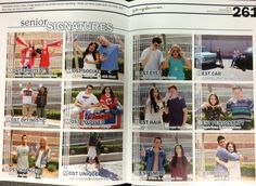 Last year's 'two Senior Signatures' spreads featured 48 seniors in 24 categories with runners up listed as well. (Photo by Amaya Hunsberger)