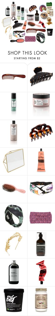 """""""Hair care"""" by silkeaaberg ❤ liked on Polyvore featuring Mason Pearson, Alexandre de Paris, H&M, Home Details, Aesop, Gucci, Missoni Mare, Avigail Adam, Sort of Coal and BOBBY"""