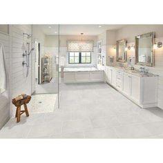 Master Bath Remodel, Shower Remodel, Dream Bathrooms, White Bathrooms, Modern Bathroom, Bathroom Ideas, White Master Bathroom, Master Bathroom Layout, Master Bathroom Shower
