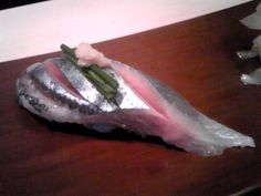 """sushi ( saury )  In Japan, saury is expressed """"autumn-sword fish"""" in Kanji(Chinese Characters)."""