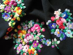 hand embroidered antique shawl