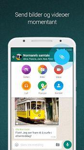 WhatsApp Messenger-skjermdump – miniatyrbilde