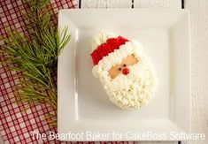 Individual Santa Cake by The Bearfoot Baker Made with Cookie Cutter- So SIMPLE!!!!