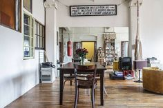 25 NYC Dream Lofts For The Perfect Staycation #refinery29  http://www.refinery29.com/nyc-holiday-vacation-rentals#slide-18  Location: Fort GreeneRate: $395/per night  This Fort Greene loft is what flea market decor dreams are made of. Mixed dining chairs, eclectic artwork, and a punching bag set this spot apart from the rest. ...