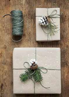 """These """"snow""""-tipped pinecones and white paint splatter give off all types of winter wonderland vibes. Courtesy of Tredenser"""