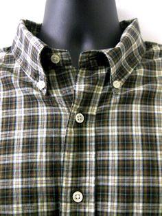 Ralph Lauren Shirt 2XL Classic Fit Brown Plaid Long Sleeves 100% Cotton #RalphLauren #ButtonFront