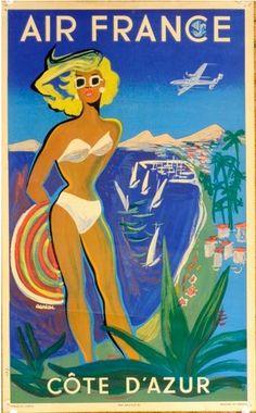 Las Vegas USA Pool Party Girl Stan Galli Vintage Airline Travel Art Poster Print