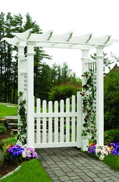 fences and gates and arbor | fairfield arbor with cottage gate