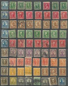 72 US # 300 -1¢ Franklin, # 301 - 2¢ Washington, # 220 -2¢ Washington Stamps