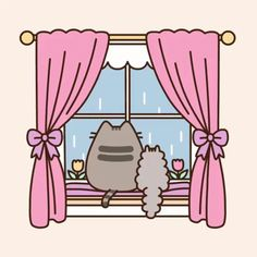 A rainy day with Pusheen & Stormy! _______________________________________________________________________ Don't know why are they watching at the rain when they don't like water…. Chat Pusheen, Pusheen Love, Pusheen Stuff, Chat Kawaii, Kawaii Cat, Kawaii Drawings, Cute Drawings, Crazy Cat Lady, Crazy Cats