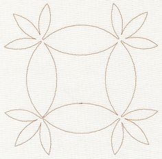 This single pass running stitch design is great for quilting the top, batting, and back together. Or, use as a simple Redwork design on linens!