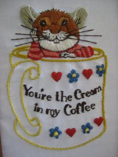 Vintage You're the Cream in my Coffee Mouse by VintageByThePound, $18.00