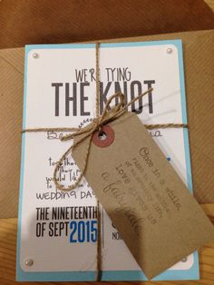 Wedding invites Home made, rustic