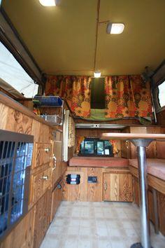 Truck and Camper Modification Pickup Camper, Truck Camper, Camper Van, Valance Curtains, Trucks, Camping Kitchen, Home, Caravan, Recreational Vehicles
