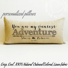Personalized wedding anniversary gift, gift for men, gift for husband, personalized pillow, Christmas gift  Twelve year anniversary gift.